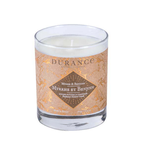 Bougie Parfumée Naturelle Myrrhe et Benjoin
