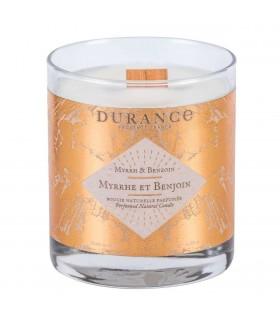 Bougie Parfumée Naturelle Mèche Bois Myrrhe et Benjoin