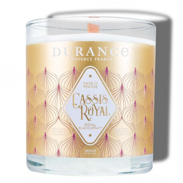 Bougie Mèche Bois Parfumée Cassis Royal